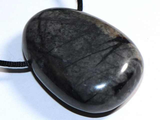 Picasso marble on cord - f.e. leather cord (necklace)