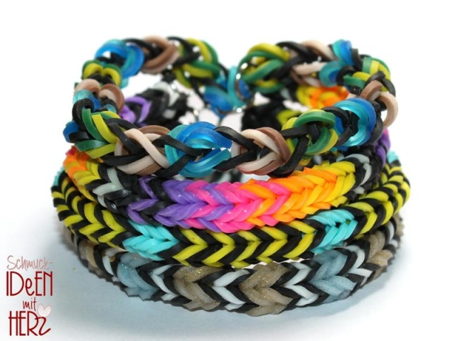 4 x Loom Armband - Mix VI - SET