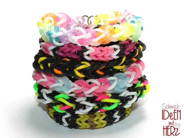6 x Loom Armband - Mix II - SET