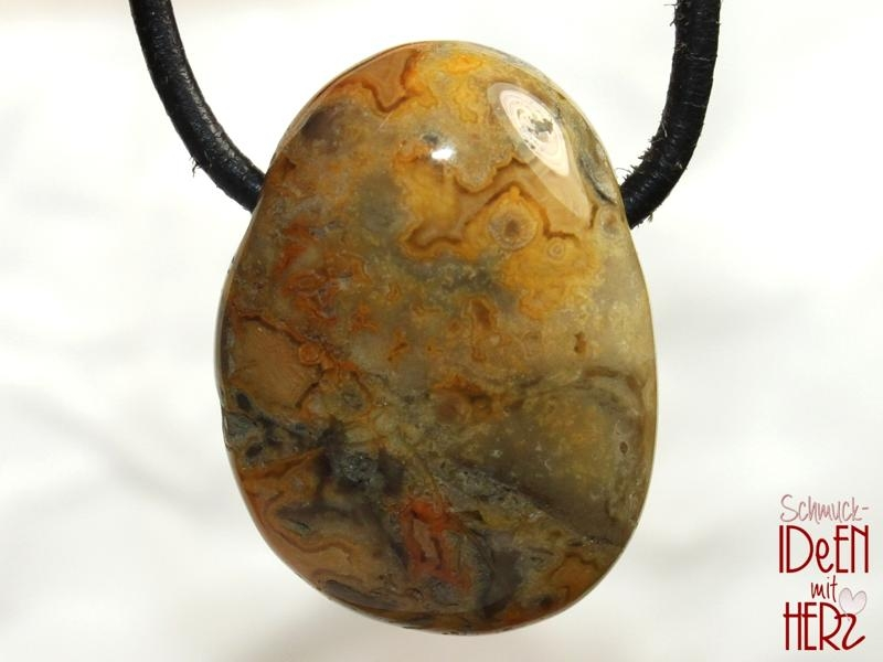 Crazy lace agate on cord