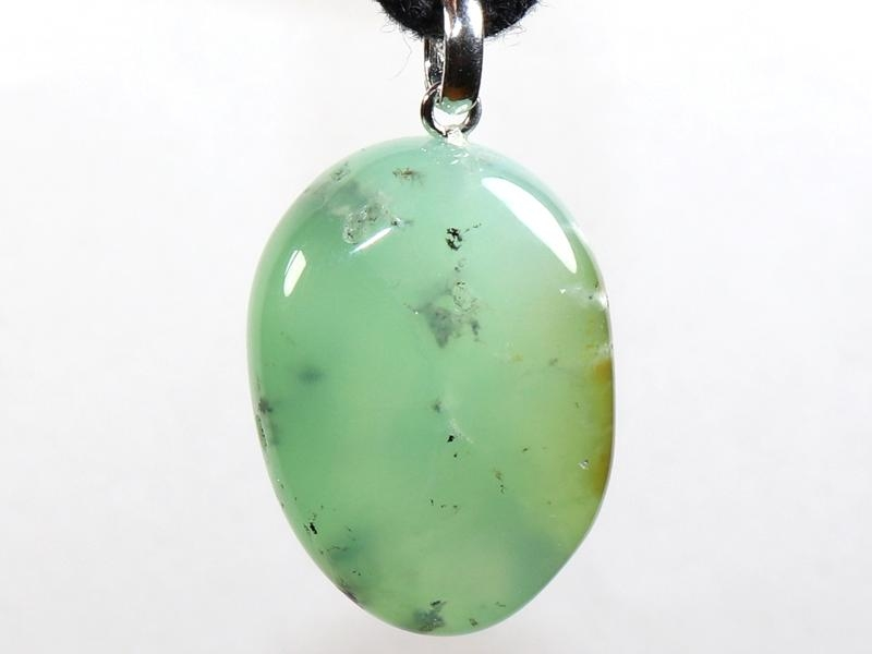 Chrysoprase on cord
