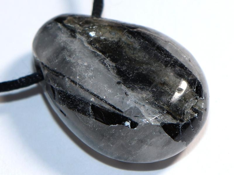 Tourmaline quartz on cord
